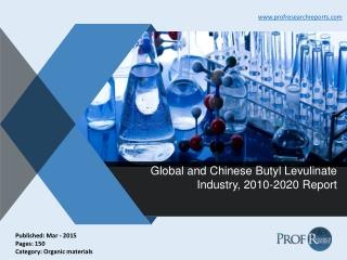 Global and Chinese Butyl Levulinate Industry Analysis, Market Growth 2010-2020
