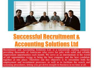 opportunity Recruitment & Accounting Solutions Ltd