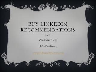 Buy LinkedIn Recommendations
