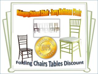 Mahogany Chiavari Chair - Larry Hoffman Chair