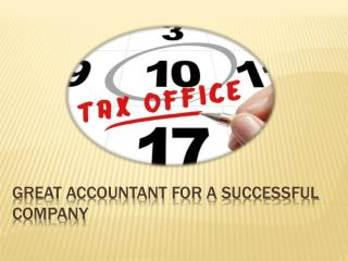 Great Accountant For A Successful Company