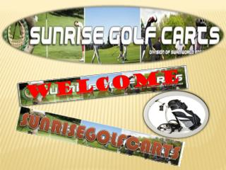 Sunrisegolfcarts offers the perfect electric golf caddies for sale