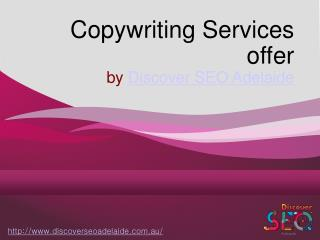 Copywriting Services offer by Discover SEO Adelaide
