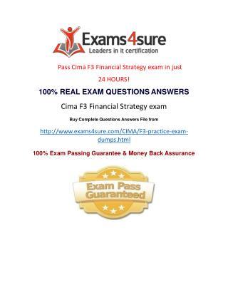 Cima F3 Exam Questions