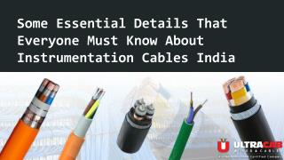 Do you know about Instrumentation control cables ?