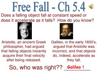 The Free Fall Acceleration