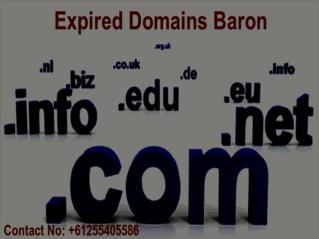 Buy Expiring Domains | Expired Domains Baron