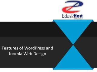 Features of WordPress and Joomla Web Design
