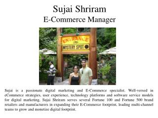 Sujai Shriram E-Commerce Manager