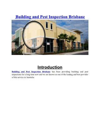 Building and Pest Inspection Brisbane | Asbestos Audit Report