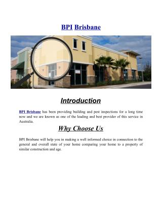 BPI Brisbane | Accurate Building Inspections