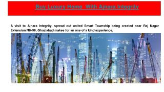 Buy Luxury Home  With Ajnara Integrity