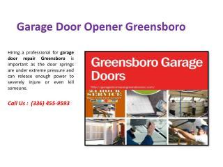 Garage Door Opener Greensboro Service