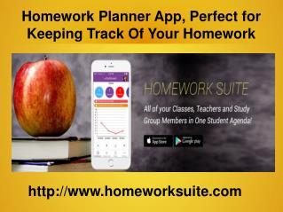 Student Homework Planner | Homework Suite