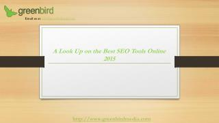 Best SEO Tools Online 2015