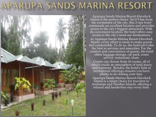 Aparupa sands Marina Resort