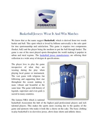 Basketball Jersey Manufacturers | Custom Sublimation Team Jerseys