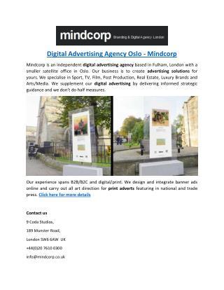 Digital Advertising Agency Oslo - Mindcorp