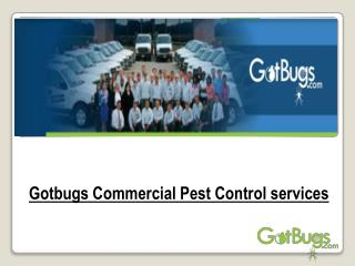 Gotbugs Commercial Pest Control services