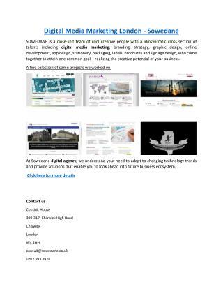 Digital Media Marketing London - Sowedane