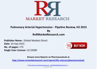 Pulmonary Arterial Hypertension Pipeline Comparative Analysis Review H2 2015