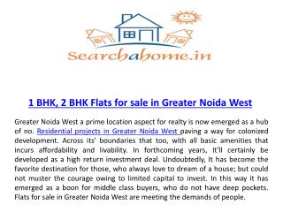 Residential projects in Greater Noida West
