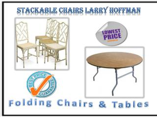 Stackable Chairs Larry Hoffman