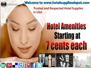 Trusted and respected Hotel Supplies in USA