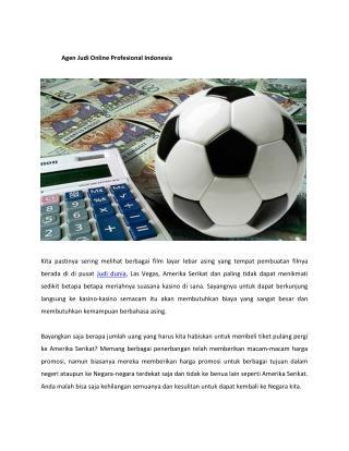 Agen Judi Online Profesional Indonesia