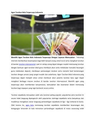 Agen Taruhan Bola Terpercaya Indonesia