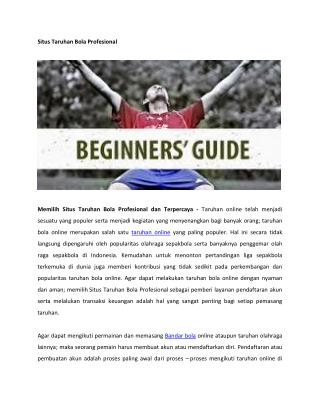 Situs Taruhan Bola Profesional