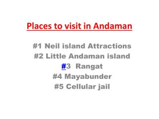 Honeymoon destinations for Andaman