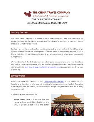 The China Travel Company - Your China Travel