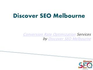 Best conversion rate optimisation agency | Discover SEO Melbourne