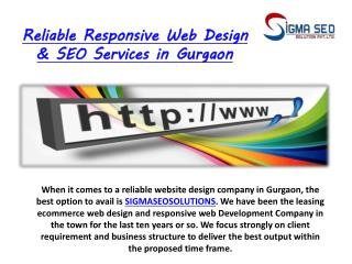 Reliable Responsive Web Design & SEO Services in Gurgaon