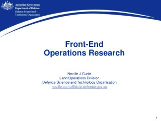 Front-End  Operations Research