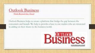 Best Business Magazines - Outlook Business