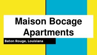 Affordable Maison Bocage Apartments in Baton Rouge, LA