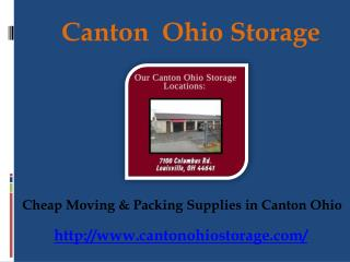 Cheap Packing Supplies Unit Facility in Canton Ohio