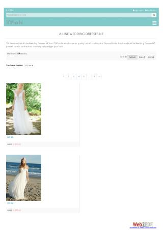 A line wedding dresses nz