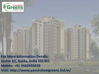 Panchsheel Greens at Affordable Price Call @ 91 9560450435