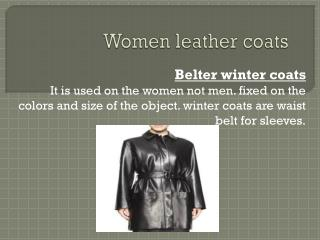 women leather coats
