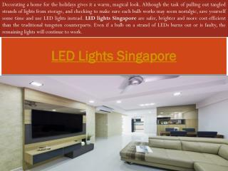led light bulb Singapore