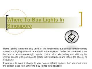 Fluorescent Singapore