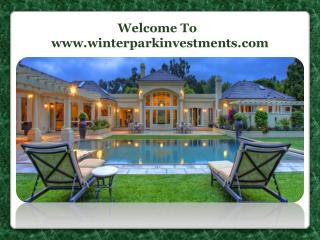 Buy a Home in Winter Park