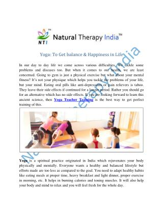 Yoga Trainer | Yoga Teacher Training In India