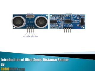 Ultrasonic Distance Sensor for Arduino/Raspberry-Pi/Robotics