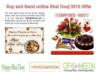 Send Bhai Dooj Gifts to India via GiftsByMeeta