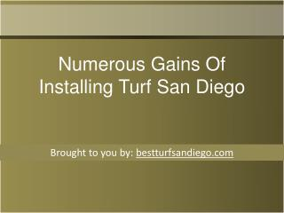 Numerous Gains Of Installing Turf San Diego