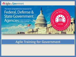 Agile training for Government Employees